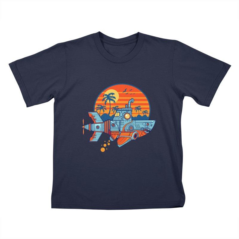 ROBOSHARK  Kids T-Shirt by Jesse Philips' Artist Shop