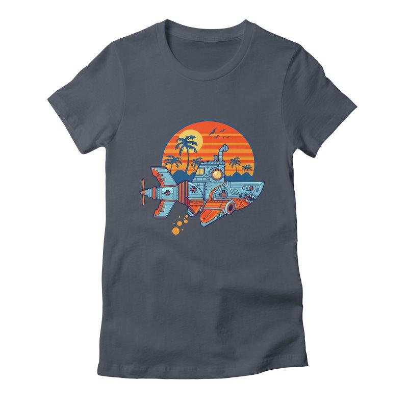 ROBOSHARK  Women's T-Shirt by Jesse Philips' Artist Shop