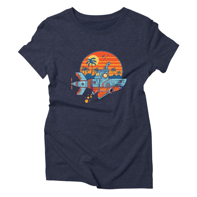 ROBOSHARK  Women's Triblend T-shirt by Jesse Philips' Artist Shop
