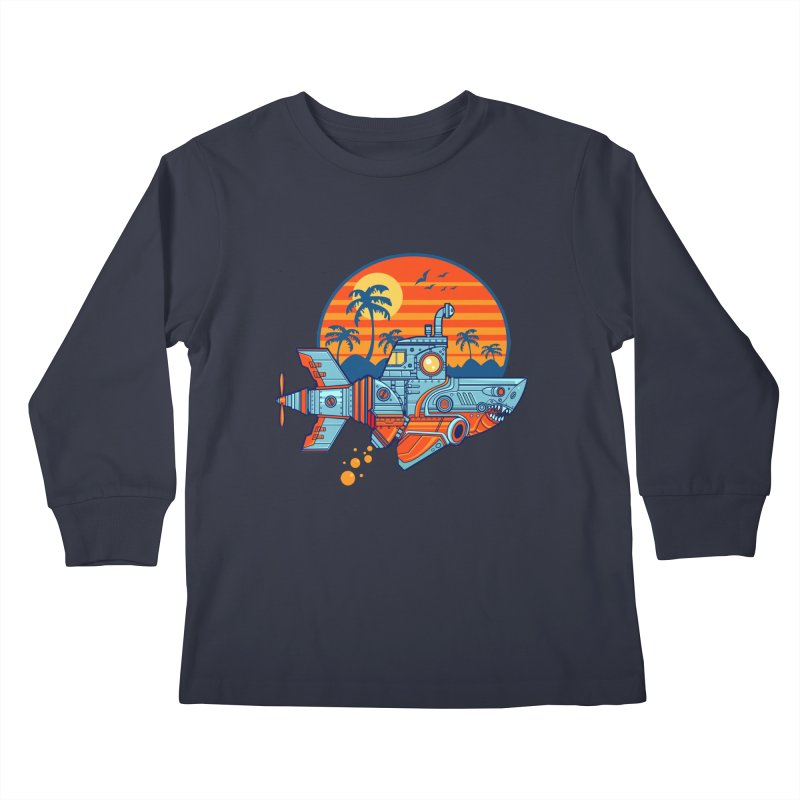 ROBOSHARK  Kids Longsleeve T-Shirt by Jesse Philips' Artist Shop