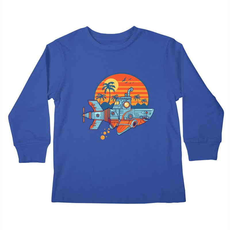 ROBOSHARK  Kids Longsleeve T-Shirt by Jesse Philips' Artist Shop