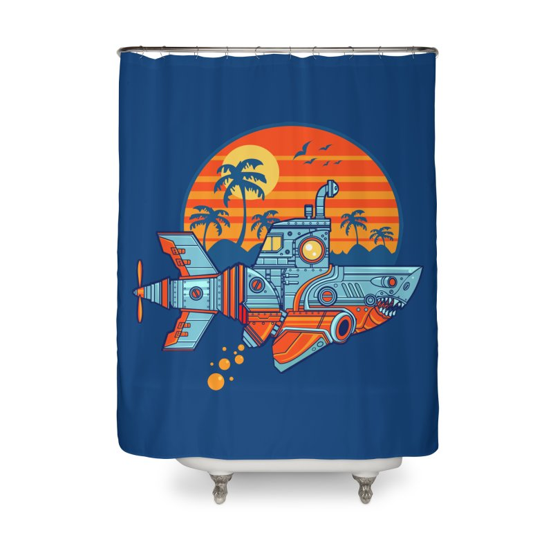 ROBOSHARK  Home Shower Curtain by Jesse Philips' Artist Shop