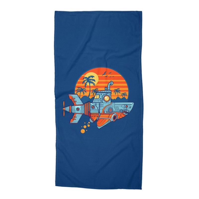 ROBOSHARK  Accessories Beach Towel by Jesse Philips' Artist Shop