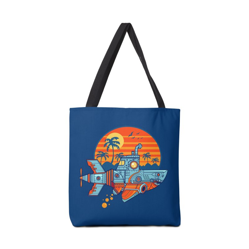 ROBOSHARK  Accessories Tote Bag Bag by Jesse Philips' Artist Shop