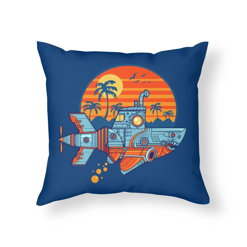 ROBOSHARK  Home Throw Pillow by Jesse Philips' Artist Shop