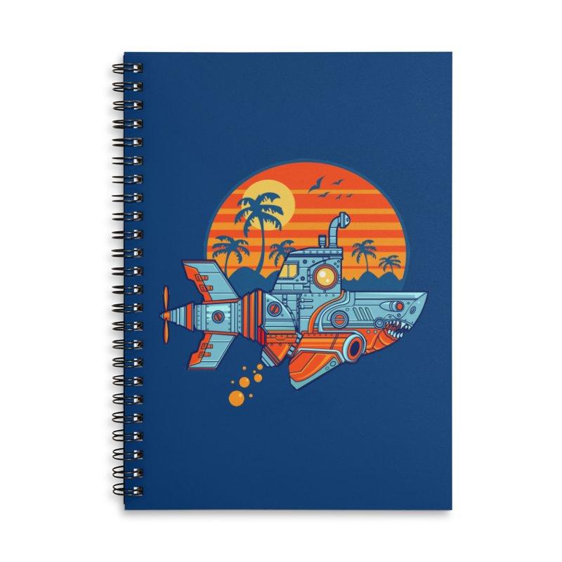 ROBOSHARK  Accessories Lined Spiral Notebook by Jesse Philips' Artist Shop