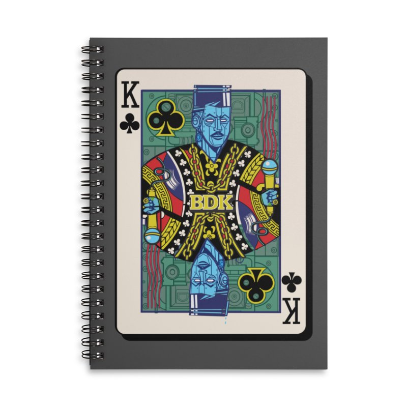 Big Daddy Accessories Lined Spiral Notebook by Jesse Philips' Artist Shop