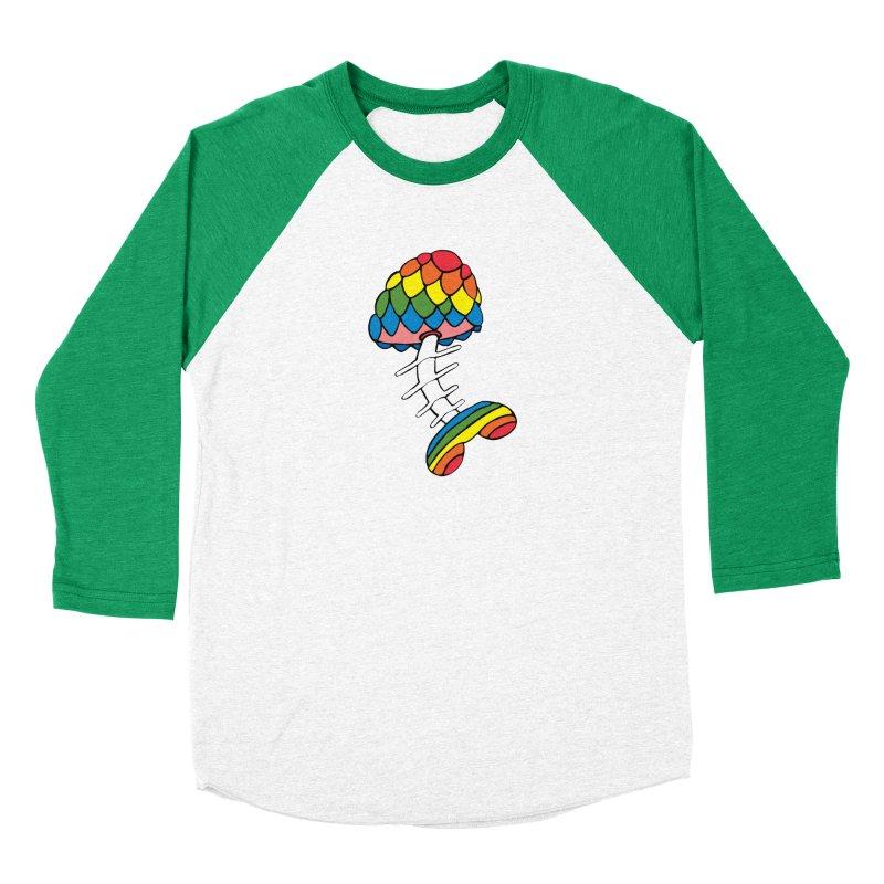 Fun Undone Women's Baseball Triblend Longsleeve T-Shirt by Jesse Quam