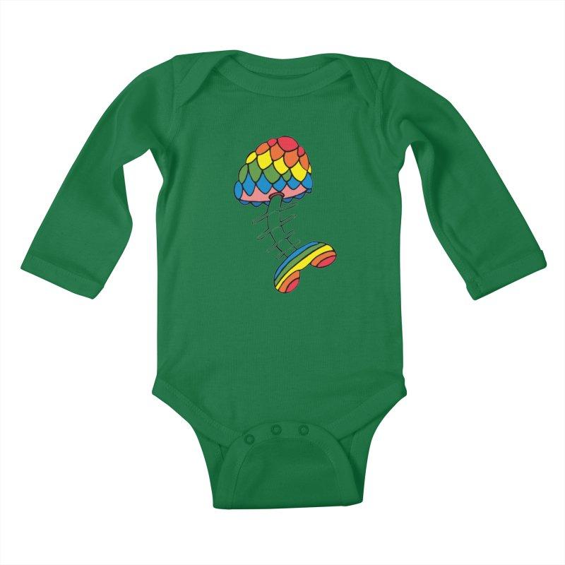 Fun Undone Kids Baby Longsleeve Bodysuit by Jesse Quam
