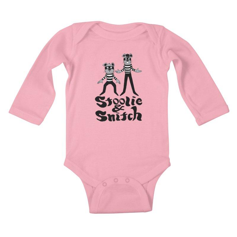 Stoolie & Snitch Kids Baby Longsleeve Bodysuit by Jesse Quam