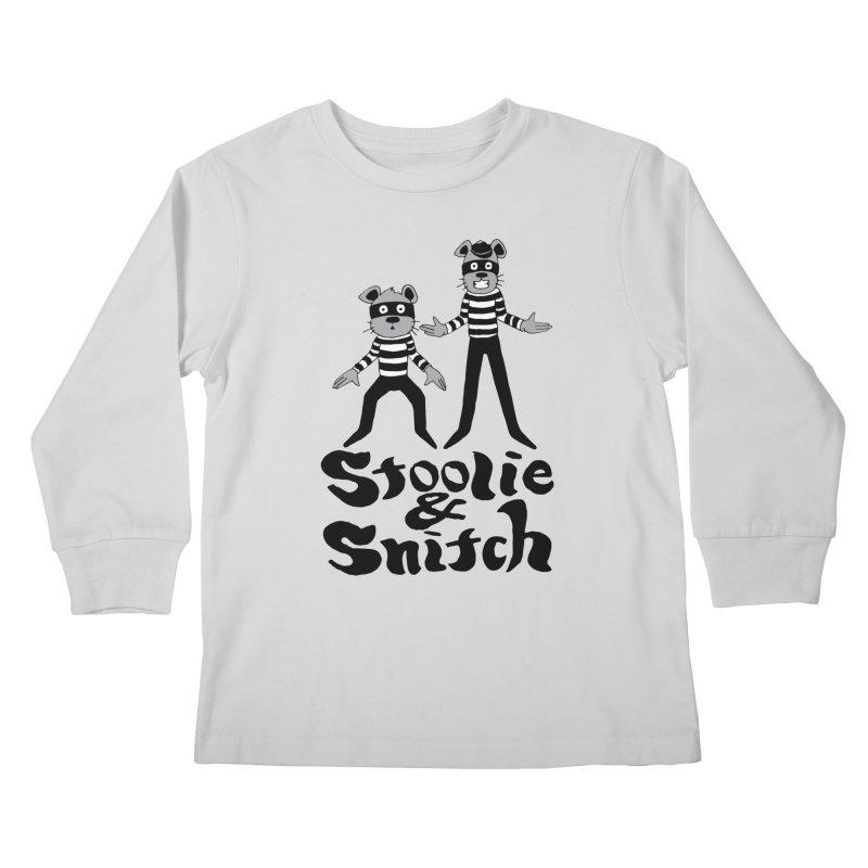 Stoolie & Snitch Kids Longsleeve T-Shirt by Jesse Quam