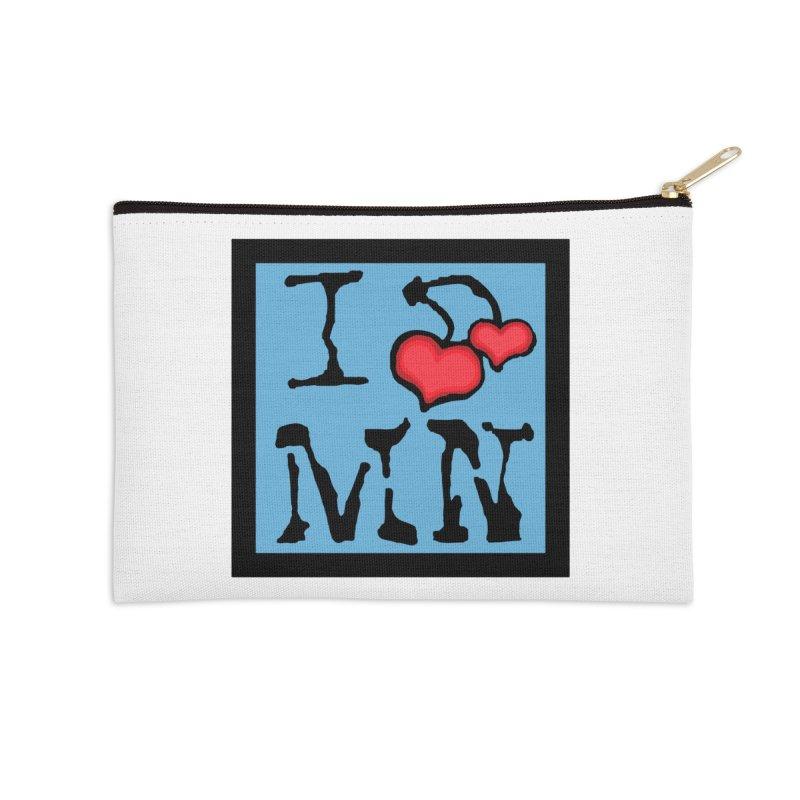 I Cherry MN Accessories Zip Pouch by Jesse Quam