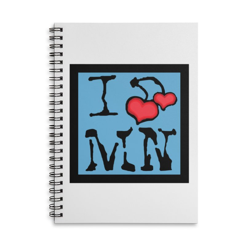 I Cherry MN Accessories Lined Spiral Notebook by Jesse Quam