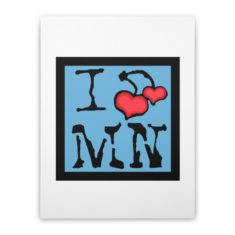 I Cherry MN Home Stretched Canvas by Jesse Quam