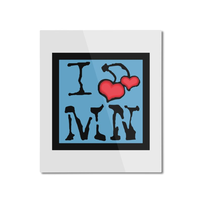 I Cherry MN Home Mounted Aluminum Print by Jesse Quam