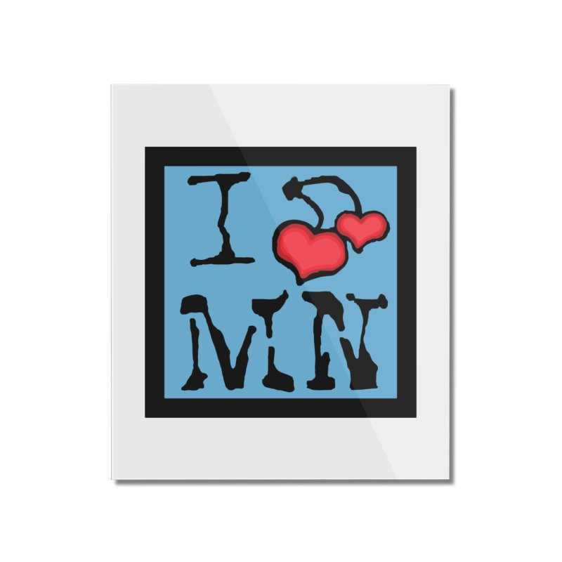 I Cherry MN Home Mounted Acrylic Print by Jesse Quam