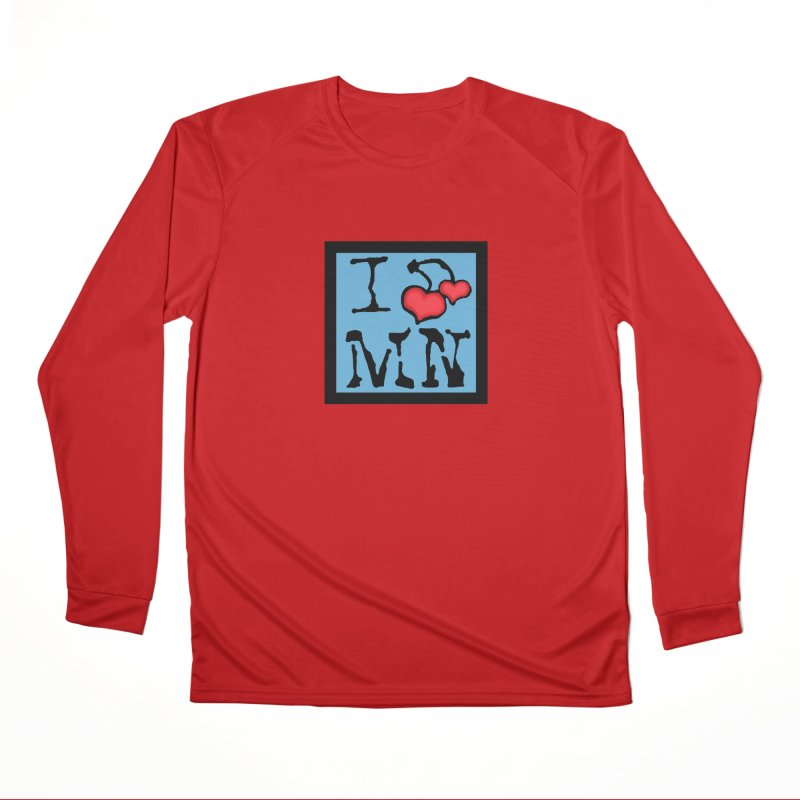 I Cherry MN Men's Performance Longsleeve T-Shirt by Jesse Quam