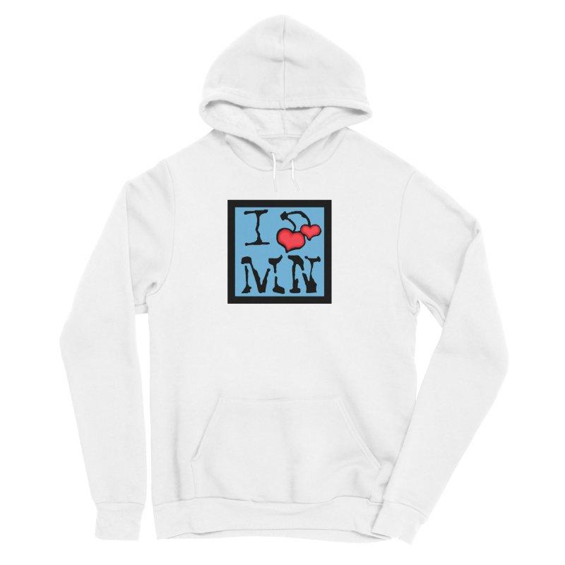 I Cherry MN Men's Sponge Fleece Pullover Hoody by Jesse Quam