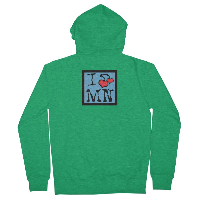I Cherry MN Women's French Terry Zip-Up Hoody by Jesse Quam
