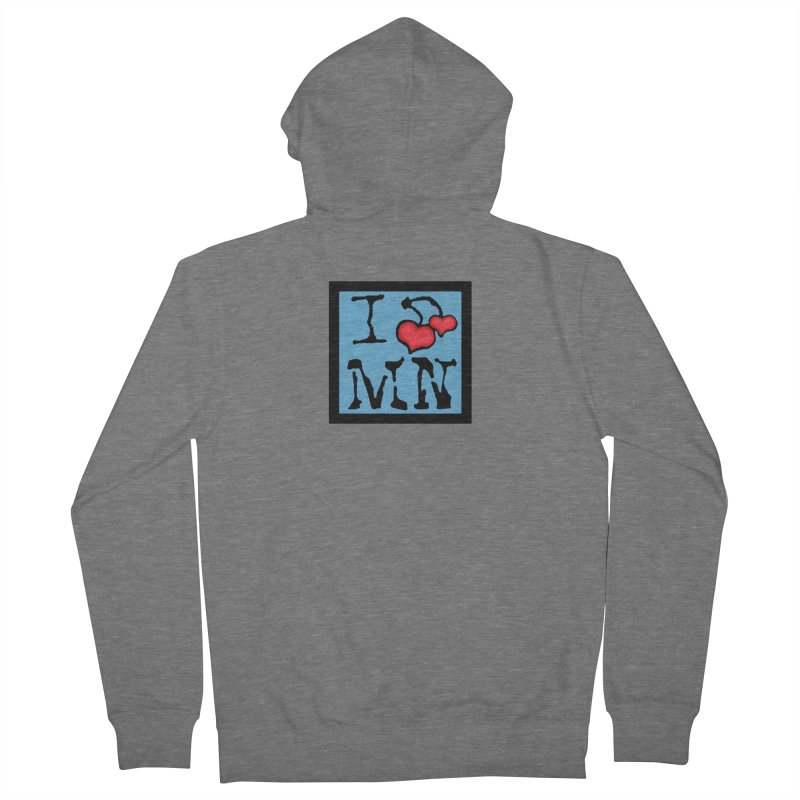 I Cherry MN Men's French Terry Zip-Up Hoody by Jesse Quam