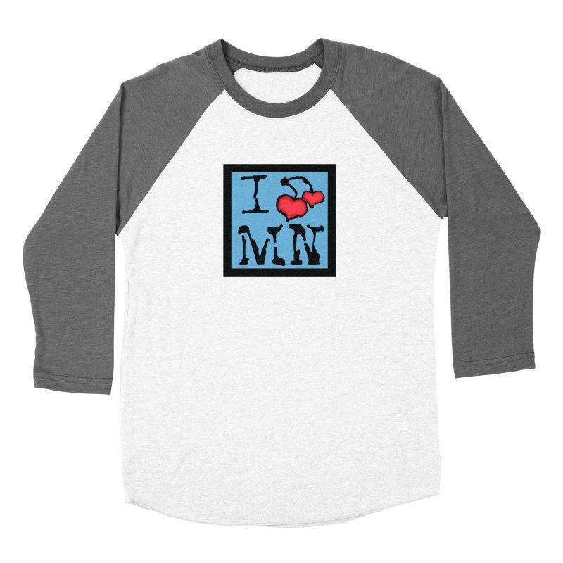 I Cherry MN Women's Baseball Triblend Longsleeve T-Shirt by Jesse Quam
