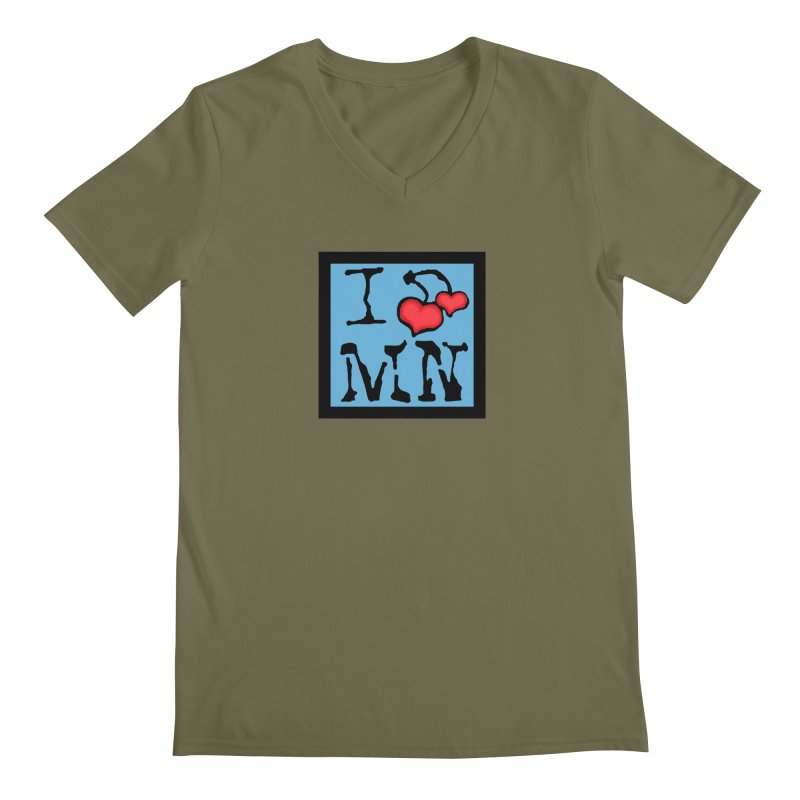 I Cherry MN Men's Regular V-Neck by Jesse Quam