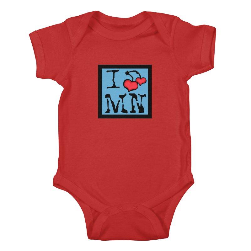 I Cherry MN Kids Baby Bodysuit by Jesse Quam
