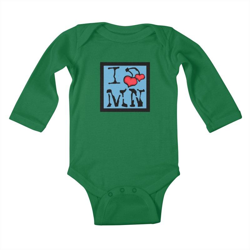 I Cherry MN Kids Baby Longsleeve Bodysuit by Jesse Quam