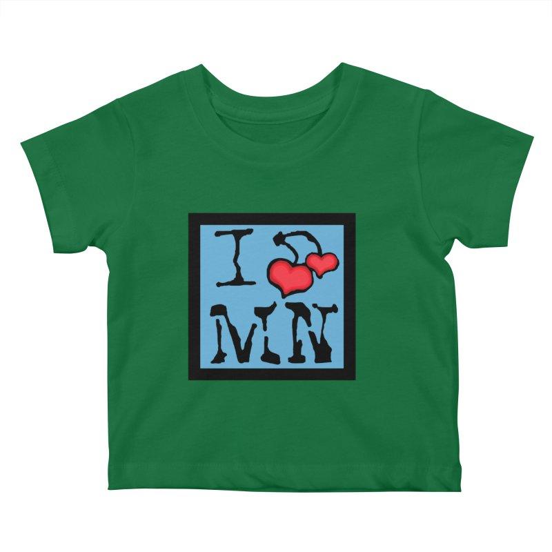 I Cherry MN Kids Baby T-Shirt by Jesse Quam