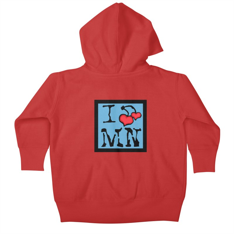 I Cherry MN Kids Baby Zip-Up Hoody by Jesse Quam