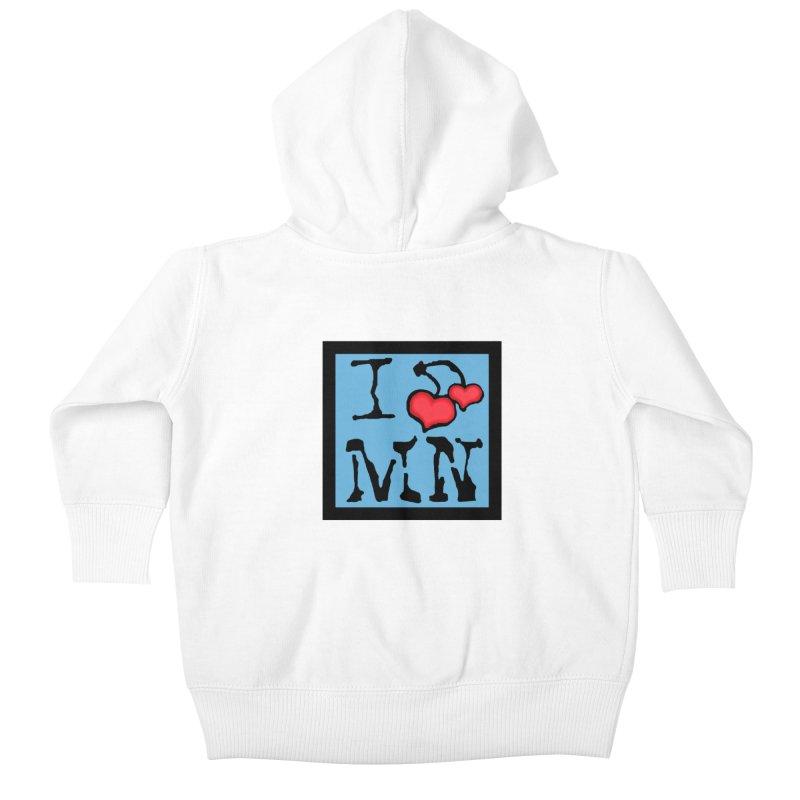 I Cherry MN Kids Baby Zip-Up Hoody by Jesse Quam