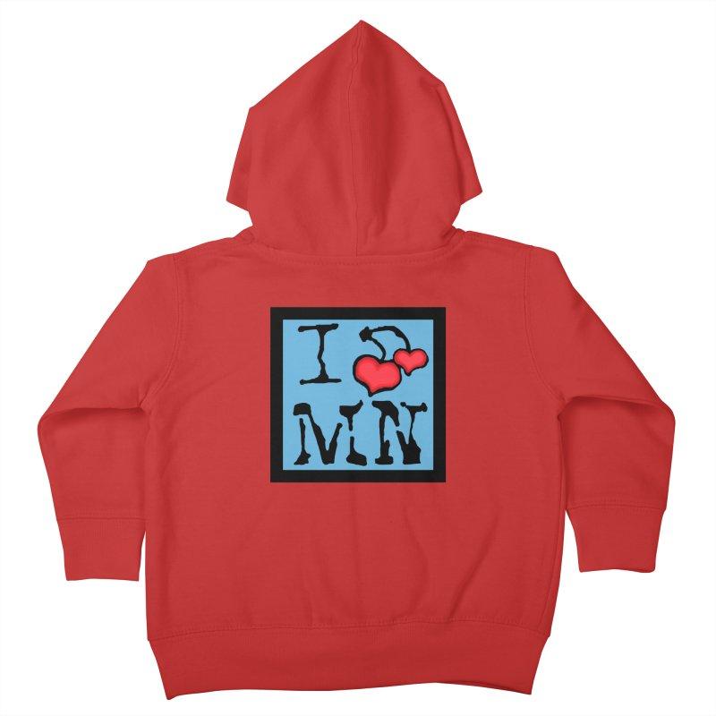 I Cherry MN Kids Toddler Zip-Up Hoody by Jesse Quam