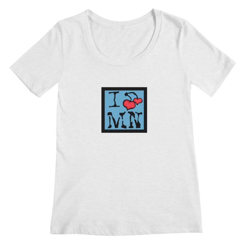 I Cherry MN Women's Regular Scoop Neck by Jesse Quam