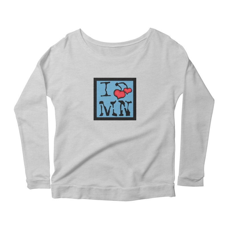 I Cherry MN Women's Scoop Neck Longsleeve T-Shirt by Jesse Quam
