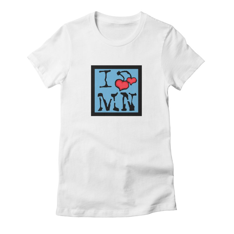 I Cherry MN Women's Fitted T-Shirt by Jesse Quam
