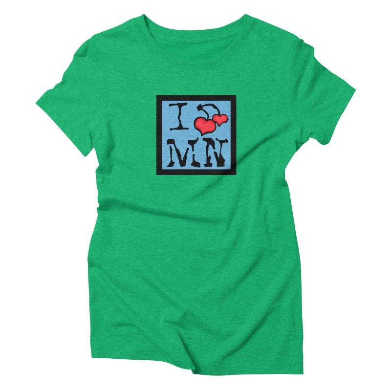 I Cherry MN Women's Triblend T-Shirt by Jesse Quam