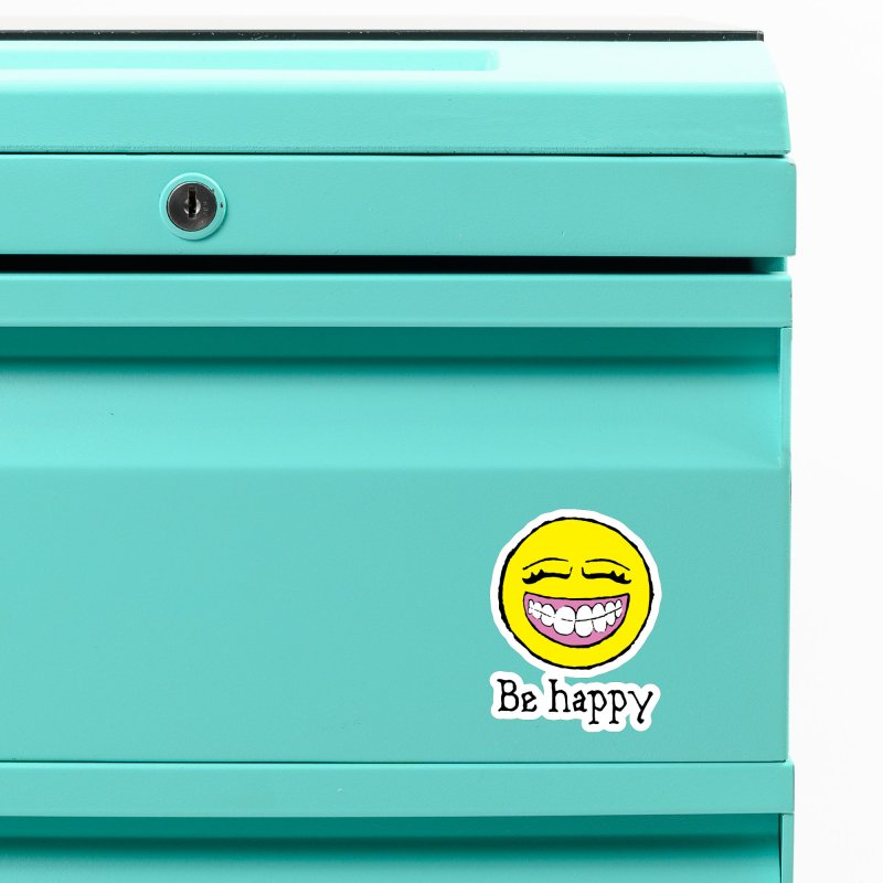 Be Happy Accessories Magnet by Jesse Quam