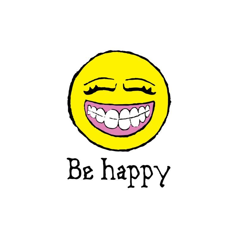 Be Happy Men's T-Shirt by Jesse Quam