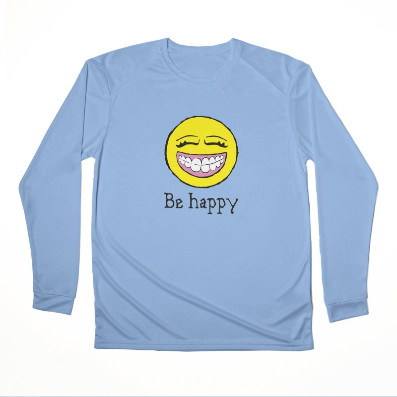 Be Happy Men's Performance Longsleeve T-Shirt by Jesse Quam