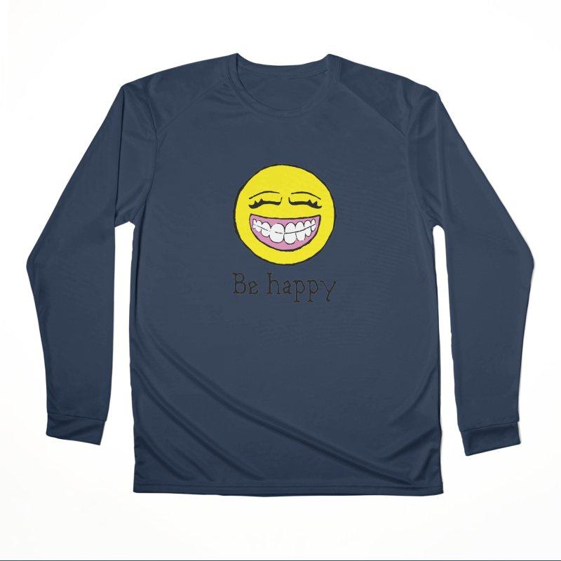 Be Happy Men's Performance Longsleeve T-Shirt by Jesse Quam