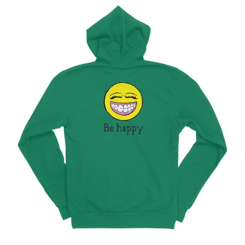 Be Happy Men's Sponge Fleece Zip-Up Hoody by Jesse Quam
