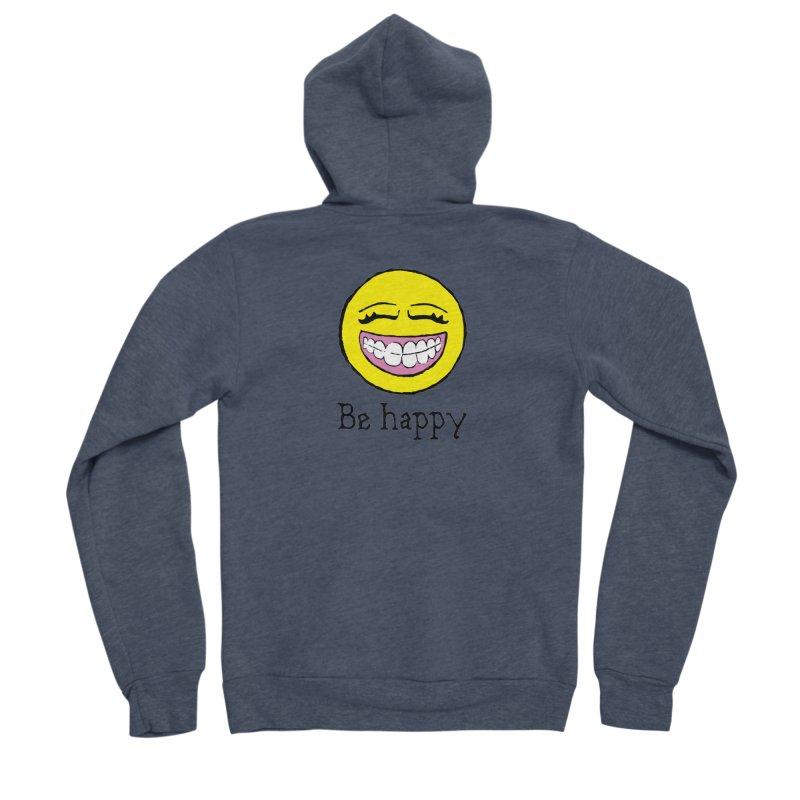 Be Happy Women's Sponge Fleece Zip-Up Hoody by Jesse Quam