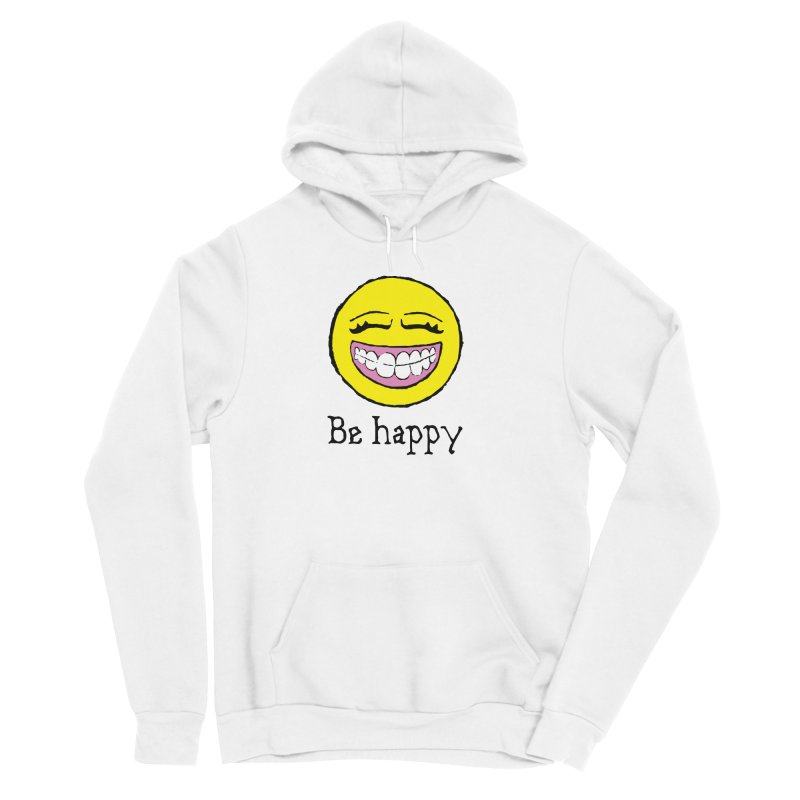 Be Happy Women's Sponge Fleece Pullover Hoody by Jesse Quam