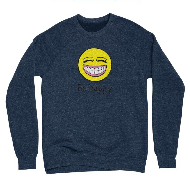 Be Happy Men's Sponge Fleece Sweatshirt by Jesse Quam