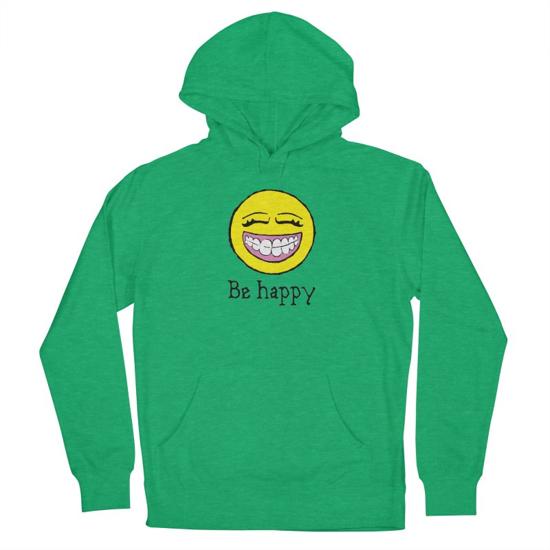 Be Happy Men's French Terry Pullover Hoody by Jesse Quam