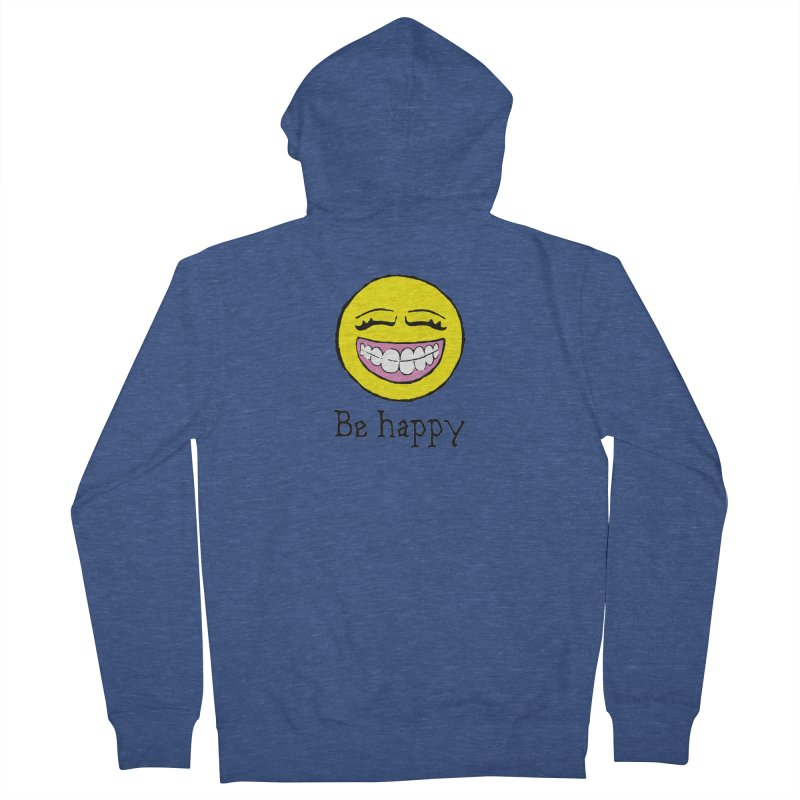 Be Happy Women's French Terry Zip-Up Hoody by Jesse Quam