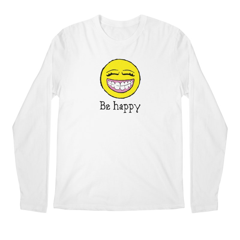 Be Happy Men's Regular Longsleeve T-Shirt by Jesse Quam