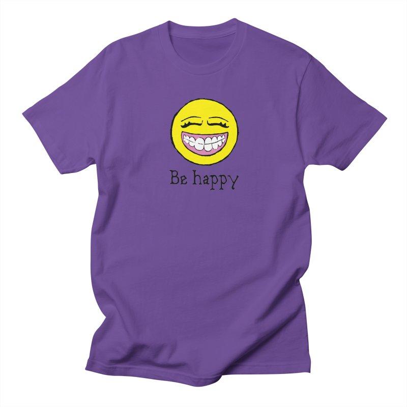 Be Happy Women's Regular Unisex T-Shirt by Jesse Quam