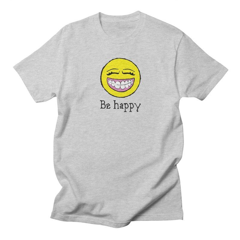 Be Happy Men's Regular T-Shirt by Jesse Quam