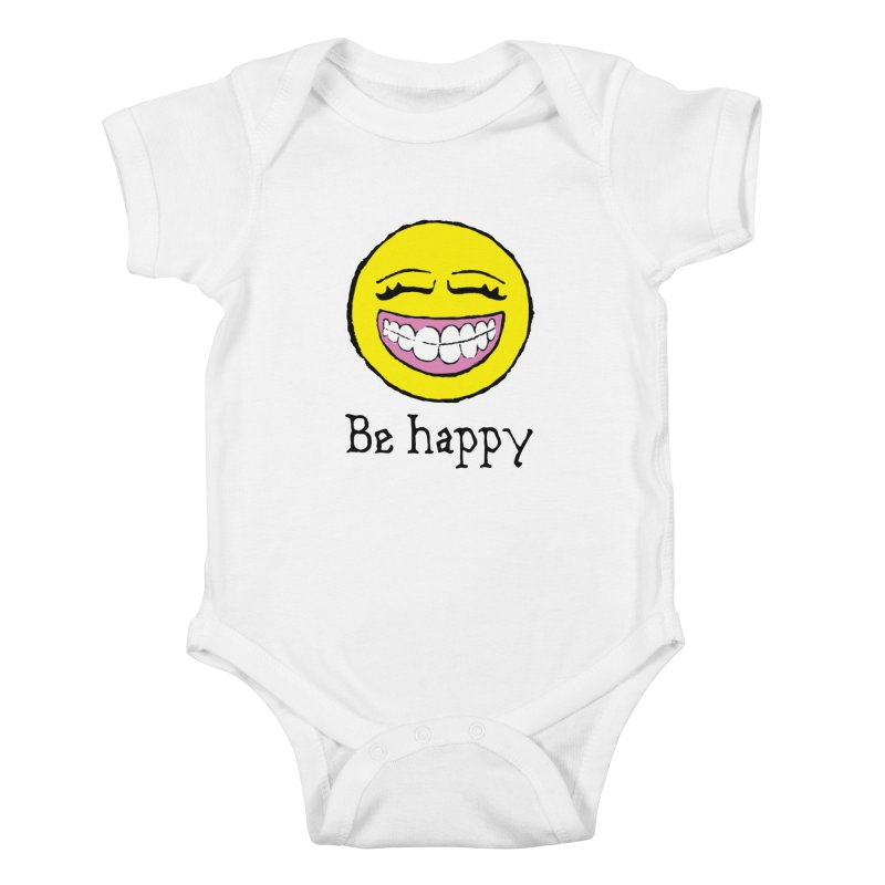 Be Happy Kids Baby Bodysuit by Jesse Quam